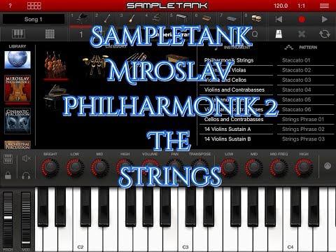 SAMPLETANK Miroslav Philharmonik 2 The Strings Section Demo for iPad