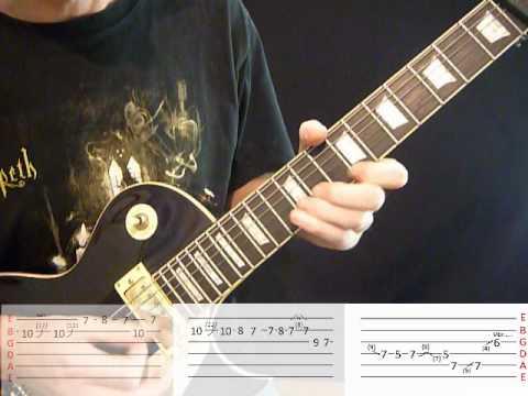 Opeth Windowpane - Guitar lesson - Part One