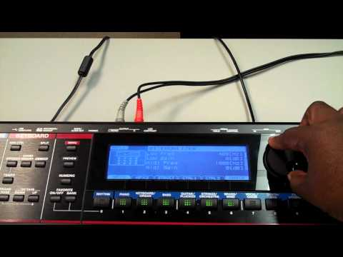 Roland Juno-Gi Controlling Rotary Effect with EV-5 Foot Pedal.