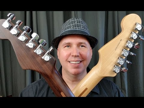 I Compare Strat's With Solid Rosewood & Solid Maple Necks