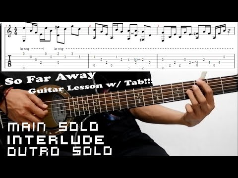 Avenged Sevenfold - So Far Away Acoustic Guitar Lesson With Tab