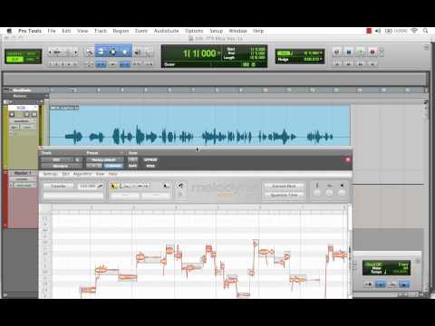 Melodyne - How To Insert Melodyne Into Pro Tools Session