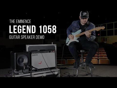 Eminence Legend 1058 Guitar Speaker Demo