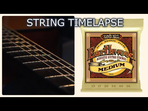 String TimeLapse (Ernie Ball EARTHWOOD Acoustic Guitar Strings Demo)