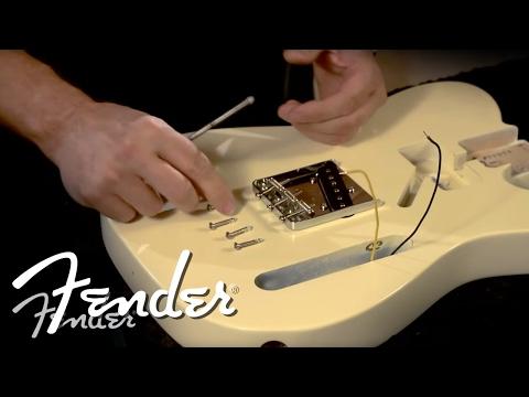 How to Install a Telecaster Bridge   Fender