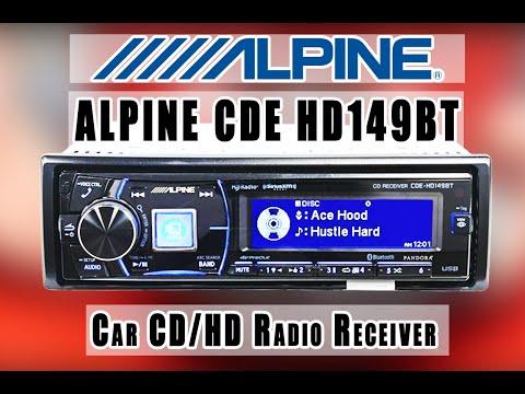 ALPINE CDE- HD149BT AM/FM tuner with built-in MOSFET amplifier