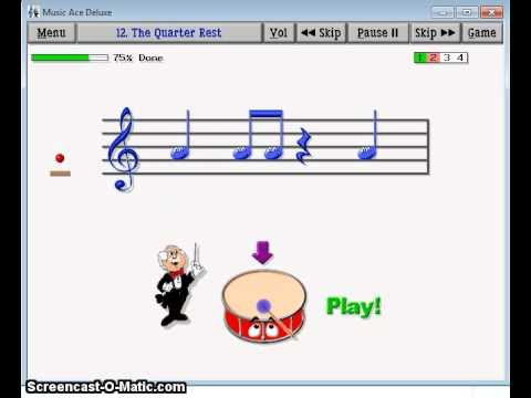 The Quarter Rest recorded from Music Ace Software