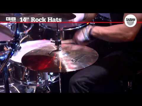 """SABIAN 14"""" B8 Pro Rock Hats- Hihat Cymbal Demo"""