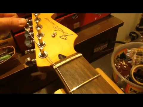 How to string grover locking tuners..