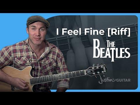 I Feel Fine Riff Guitar Lesson   The Beatles