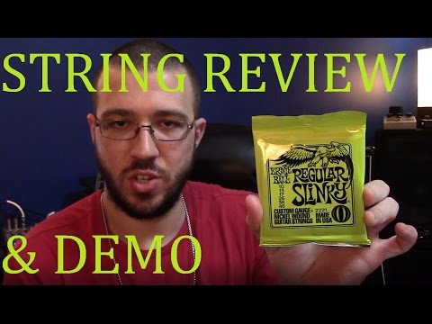 Ernie Ball Regular Slinky String Review & Demo