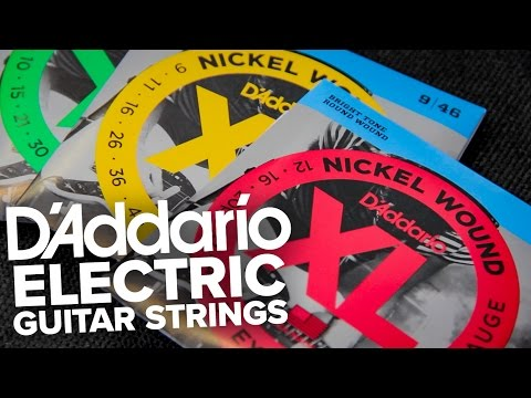Strings Direct TV | D'Addario Electric Guitar Strings Ranges (inc. NYXL)