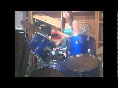Drumming simple beats on gammon drum set