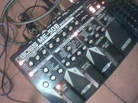 BOSS ME 50B - DeMo AuDiO on bass! multieffect pedalboard