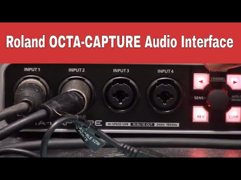 Using the OCTA-CAPTURE Audio Interface