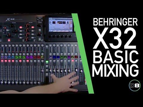 Behringer X32 - Basic Mixing 101-1 - Intro & Layout