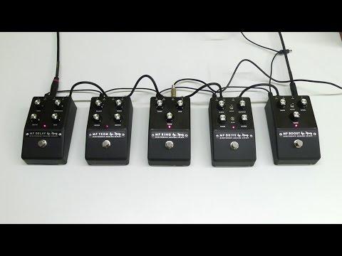 Moog Minifooger Analog Effects Overview w/ EP-3 (Guitar Demo)
