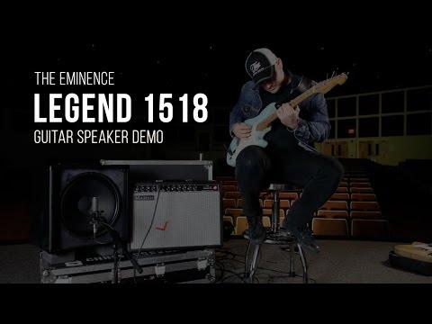Eminence Legend 1518 Guitar Speaker Demo