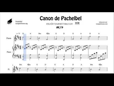 Pachelbel Canon in D Sheet Music for Flute And Piano Duet