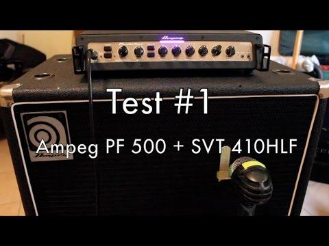 Ampeg PF 500 + SVT 410HLF - Test #1