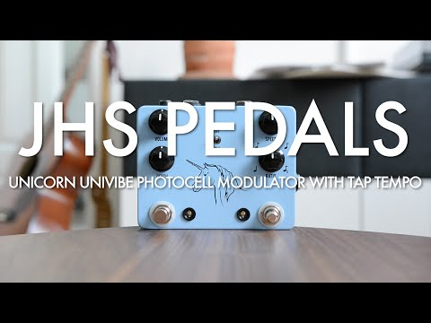 JHS Pedals Unicorn Univibe Photocell Modulator With Tap Tempo (demo)
