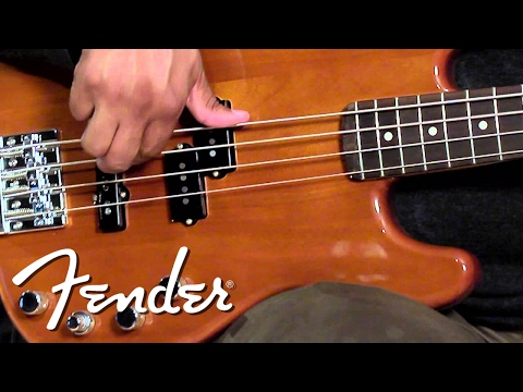 Fender Deluxe Active Precision Bass Special Okoume Demo | Fender