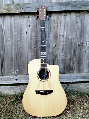 thin neck acoustic guitar, slim neck acoustic guitar, narrow neck acoustic guitar