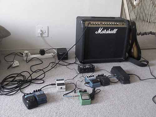 eq pedal in front of amp